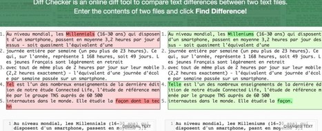 DiffChecker. Trouver les différences entre deux textes - Les Outils du Web | Check ! | Scoop.it