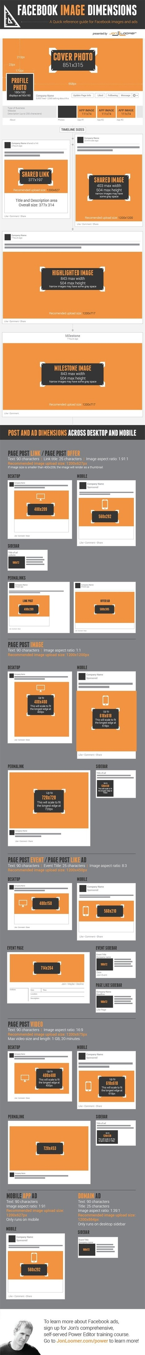 Create the Perfect Facebook Page With This Image Dimension Cheat Sheet | Design | Scoop.it