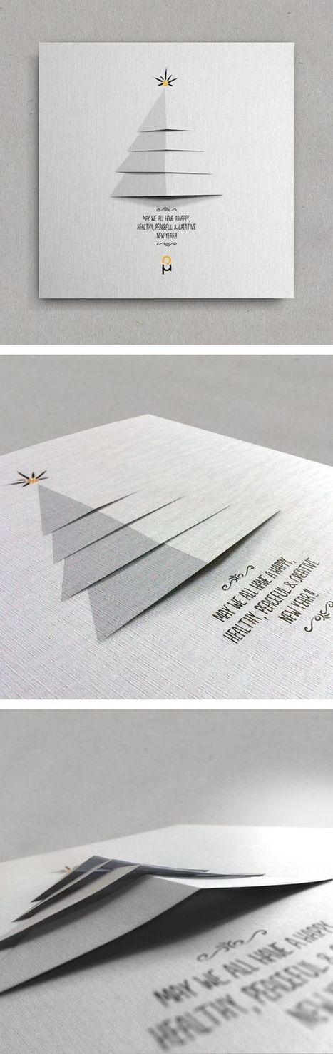 Inspiration graphique #2 : 30 cartes de voeux originales pour vous donner des idées ! | infographiste multimédia | Scoop.it