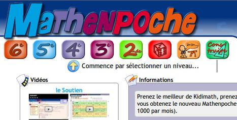 Mathenpoche - soutien scolaire en mathématiques | Jeux éducatifs | Scoop.it
