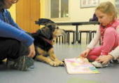 New meaning for 'dog-eared book,' as kids read to pup at Leominster Library | School Library Advocacy | Scoop.it