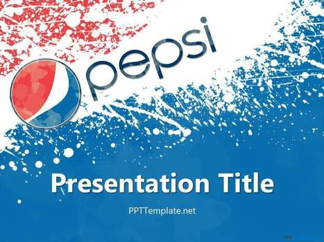 Free Pepsi PPT Template - PPT Presentation Backgrounds for Power Point - PPT Template | Pepsi | Scoop.it