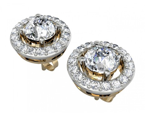 Alluring Diamond Solitaire Cluster Earring | Diamond Jewellery India | Scoop.it