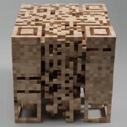 #QRCode como escultura de madeira! Também serve de luminária para jardim!   Daniel Guarniero   Scoop.it