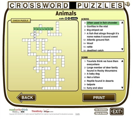 Free Technology for Teachers: Read Write Think Makes It Easy to Create Crossword Puzzles | Digital story telling in  EFL classes. | Scoop.it