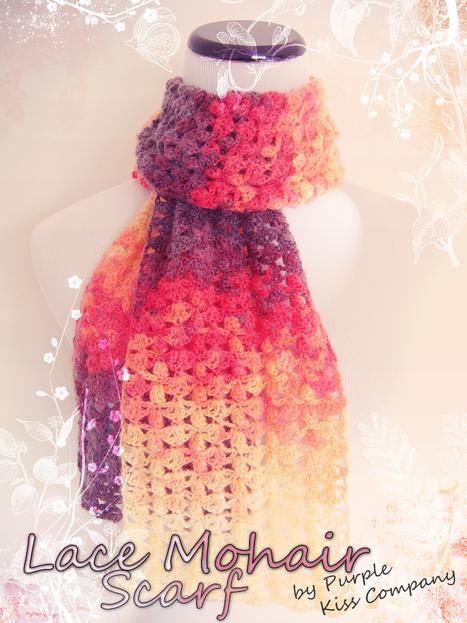 Mohair Lace Scarf. ♥ Be Fierce!   PKC Crochet   Scoop.it