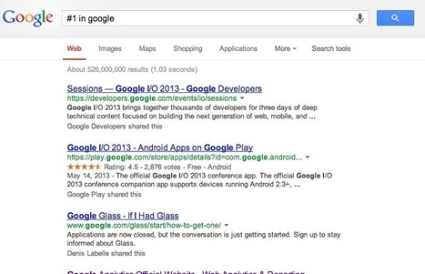 You CAN'T Be #1 in Google   Digital Marketing   Scoop.it
