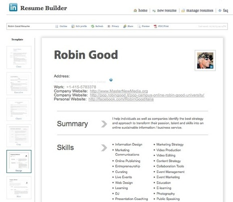 Create a Professional-Looking CV in Seconds with LinkedIN Resume Builder | Personal Branding World | Scoop.it