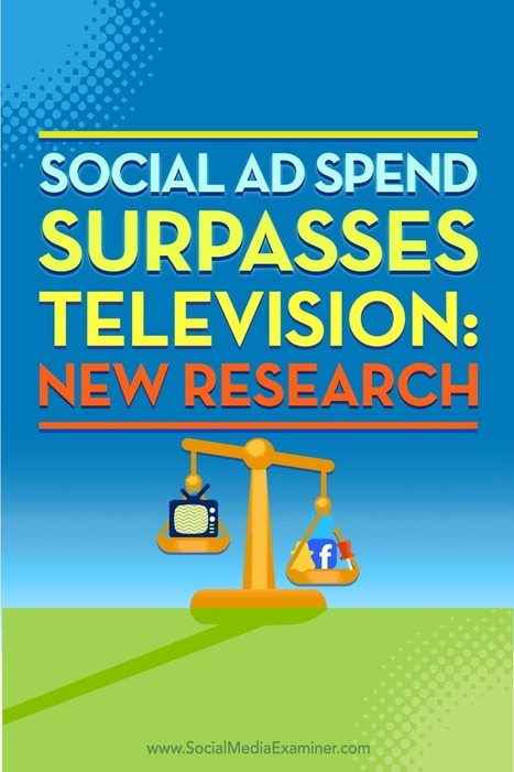 Social Ad Spend Surpasses Television: New Research | Social Media News | Scoop.it