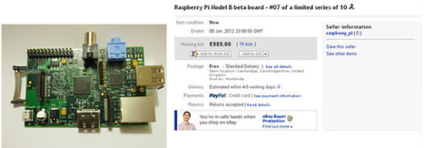 Anonymous Bidder Pays £989 For Raspberry Pi Board, Donates To Museum | Raspberry Pi | Scoop.it