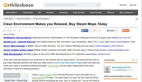 Clean Environment Makes you Relaxed, Buy Steam Mops Toda   Steam Mops   Scoop.it