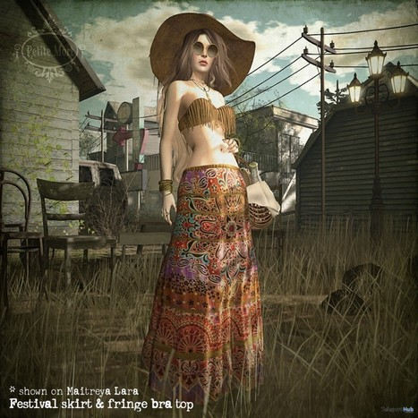 Festival Skirt & Fringe Bra Top May 2016 Group Gift by Petite Mort | Teleport Hub - Second Life Freebies | Second Life Freebies | Scoop.it
