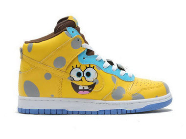 Nike Spongebob SB Dunk High Tops Yellow Blue Spongebob SB Dunk / spongebob high tops | Spongebob Nike Dunks | Scoop.it