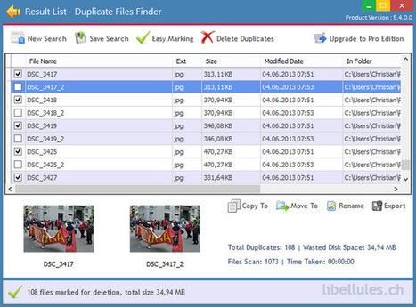 Duplicate File Finder - économisez de l'espace disque | Geeks | Scoop.it