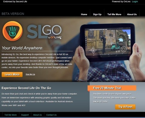 Snickers' Doodles: SL Go from Onlive - New mobile viewer for Second Life | Logicamp.org | Scoop.it