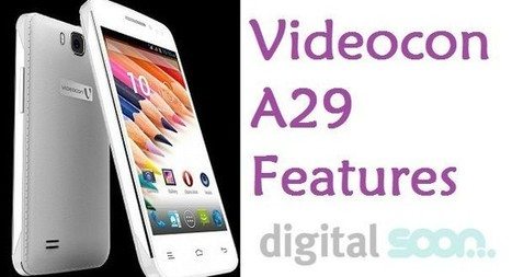 Videocon A29 Features and Price in India: Hands On | Digital Soon | Scoop.it
