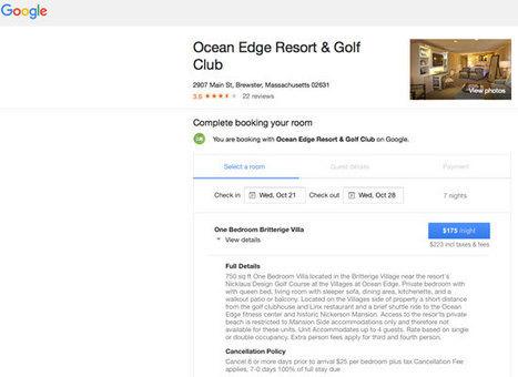Google officialise la réservation à la commission. Hotel Marketing 35 | Tourisme et Tourisme Numérique | Scoop.it