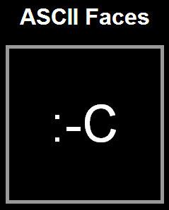 Ascii Faces | ASCII Art | Scoop.it