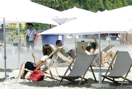 | À Strasbourg, la plage de sable sur les quais désertée en raison de la chaleur - L'Alsace | Strasbourg Eurométropole Actu | Scoop.it