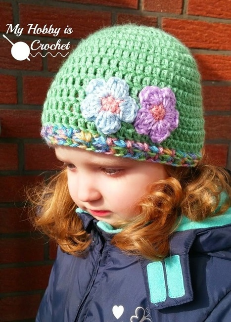Touch of Spring Hat | Free Crochet Pattern | My Hobby is Crochet | Free crochet patterns and tutorials | Scoop.it