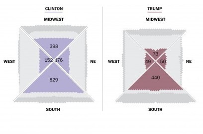 How Trump vs. Clinton could reshape the electoral map | AP Human Geography Digital Knowledge Source | Scoop.it