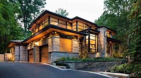 Splendide maison contemporaine aux mat r - Maison bois et pierre ...