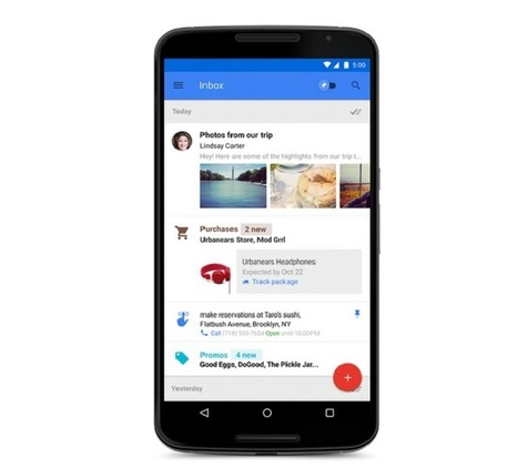 Google lance Inbox, une alternative à l'application Gmail | Geeks | Scoop.it