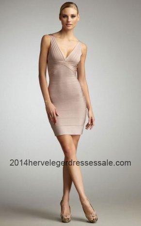 2014 Herve Leger Nude Seri Woodgrain V-Neck Bandage Dresses [Nude Herve Leger V-neck Dresses] - $160.00 : 2014 Herve Leger   Cheap Herve Leger   BCBG & Herve Leger   Scoop.it