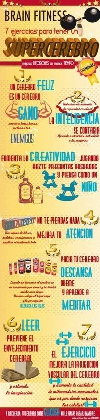 7 ejercicios para tener un supercerebro #infografia #infographic   Educación del futuro inmediato   Scoop.it