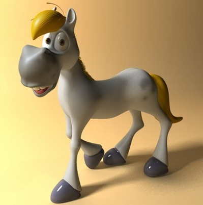 Cheval cartoon rigged 3D | 3D Library | Scoop.it