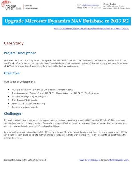 Upgrade Microsoft Dynamics NAV Database to 2013 R2   CrispyCodes   Scoop.it