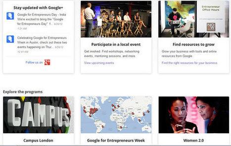Google lance un programme pour soutenir les entrepreneurs   partage&collaboratif   Scoop.it