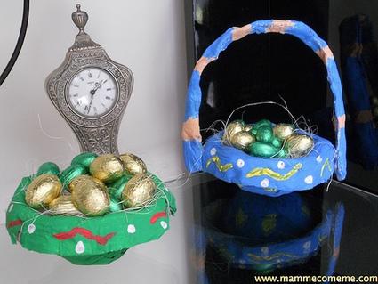 Mamme come me: Pasqua: cestini pasquali di cartapesta | Lavoretti | Scoop.it