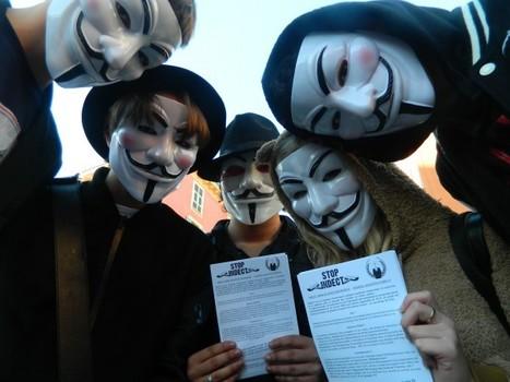 #OpBigBrother / #Anonymous :Photos Nice contre INDECT, suivies de l'OP du coeur (repas chauds pour sans abris) | Libertés Numériques | Scoop.it