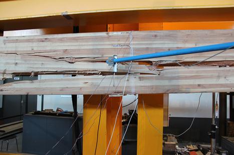 Résistance mécanique d'une poutre en lamellé collé : de la déformation à la rupture   Charpente bois   Scoop.it