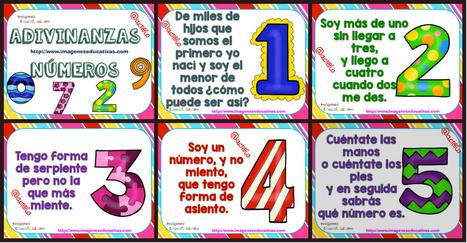 Las adivinanzas de los NÚMEROS - Imagenes Educativas | Recull diari | Scoop.it