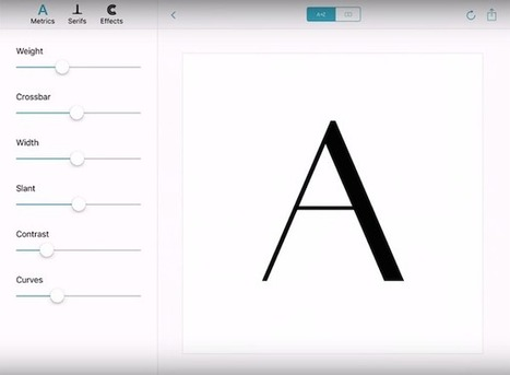 Adobe's Proposed Awesome New App Will Let You Design Custom Typefaces Quickly And Easily | Fashion Technology Designers & Startups | Scoop.it