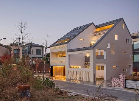 Une double maison contemporaine urbaine et orig for Maison moderne urbaine