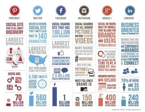 Médias sociaux : Caractéristiques des réseaux sociaux 2014 - WebLife | BtoCommunication | Scoop.it