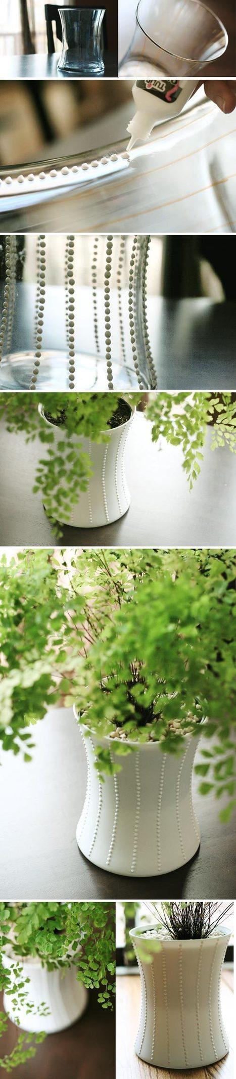 [Tutoriel] Comment personnaliser un vase tout simple | Déco fait maison, récup, upcycling, jardinage | Scoop.it