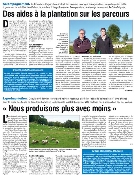 Avec l'agroforesterie, l'éleveur gagne sur tous les plans | Agriculture en Dordogne | Scoop.it