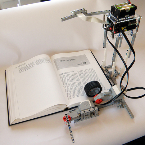 Lego Bookreader: Digitize Books With Mindstorms and Raspberry Pi | Raspberry Pi | Scoop.it