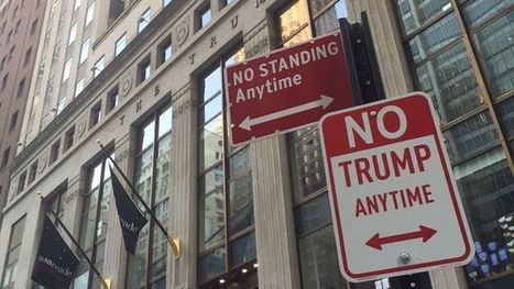 'No Trump Anytime' signs pop up around the United States | Strange days indeed... | Scoop.it