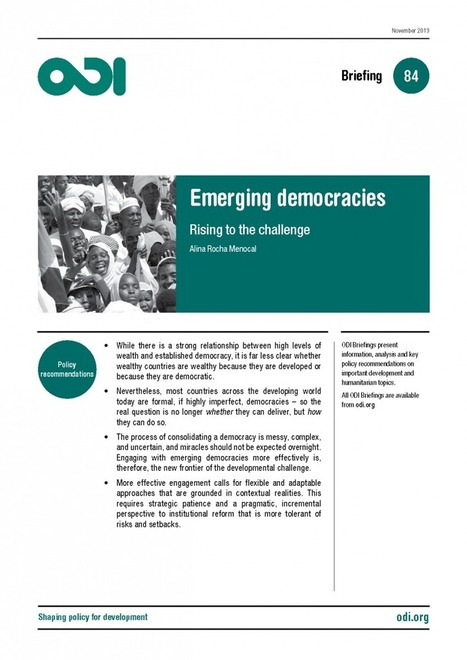 Emerging democracies - rising to the challenge   International aid trends from a Belgian perspective   Scoop.it