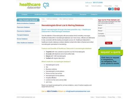 Get all the information you need to reach your client with Neonatologists Email List | Healthcare Datacenter | Scoop.it