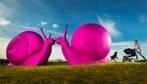 Brightly Colored Giant Snails 'Invade' Sydney During Art Festival - DesignTAXI.com | EXTRANGE | Scoop.it