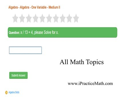 Math problem for kids - Topic Algebra - One Variable - Medium II | 30 minutes Math magic | Scoop.it