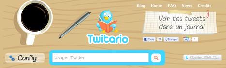 Twitario, Journal de Twitter, Voir tes tweets dans un journal | SocialMediaDesign | Scoop.it