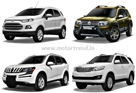 The Massive Battle of The Best SUVs | Cars in India 2014 | Scoop.it