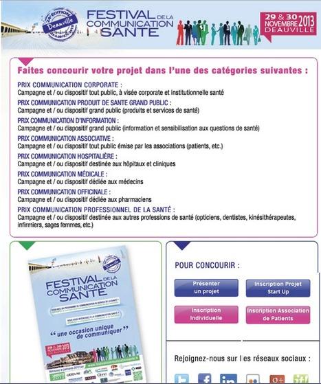 #fautyaller #placetogo Festival de la Communication Santé : faites concourir votre projet | Communication événementielle Festivals | Scoop.it